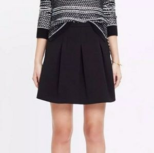 Madewell Jacquard Black Pleated Mini Skirt